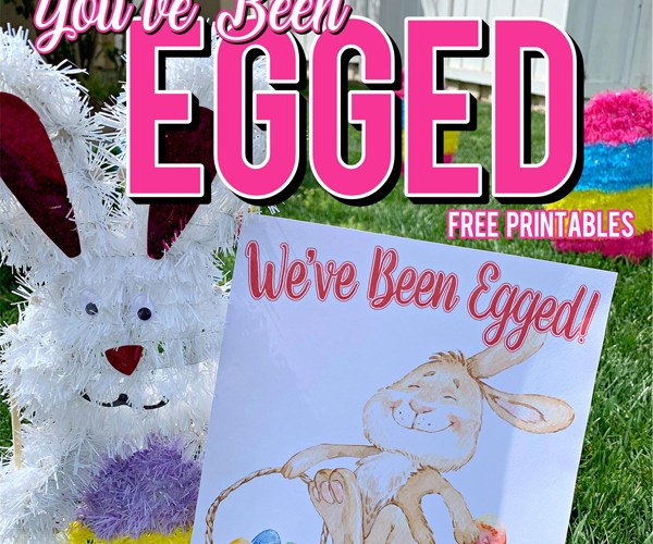 You've Been Egged Poem Printable Easter Activity
