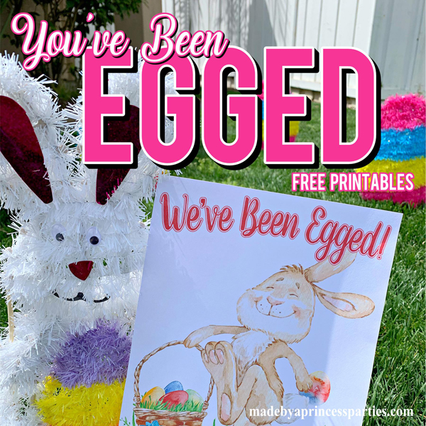 You've Been Egged Poem Printable Easter Activity perfect for EGGing your neighbors