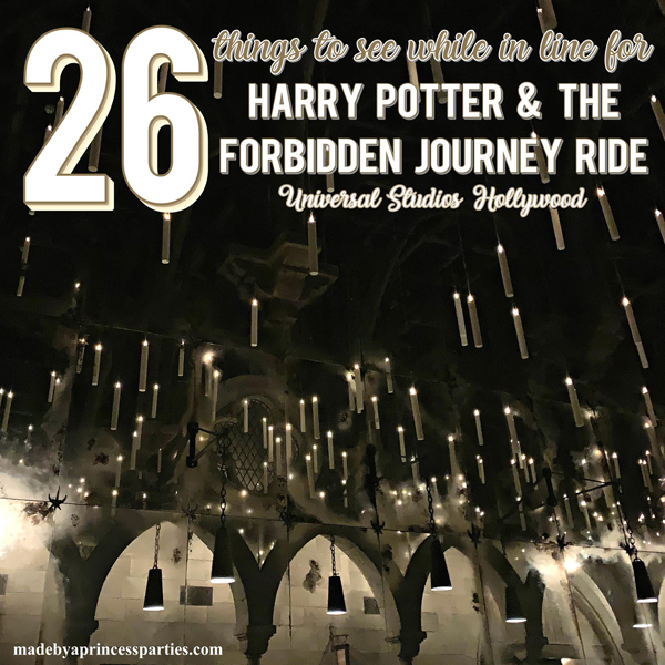 Harry Potter Forbidden Journey is so much more than a ride. There is so much to see while waiting in line for this magical ride