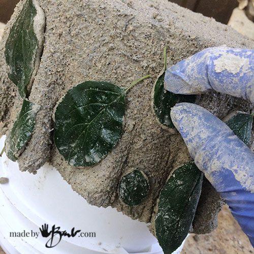 unique draped concrete planter made