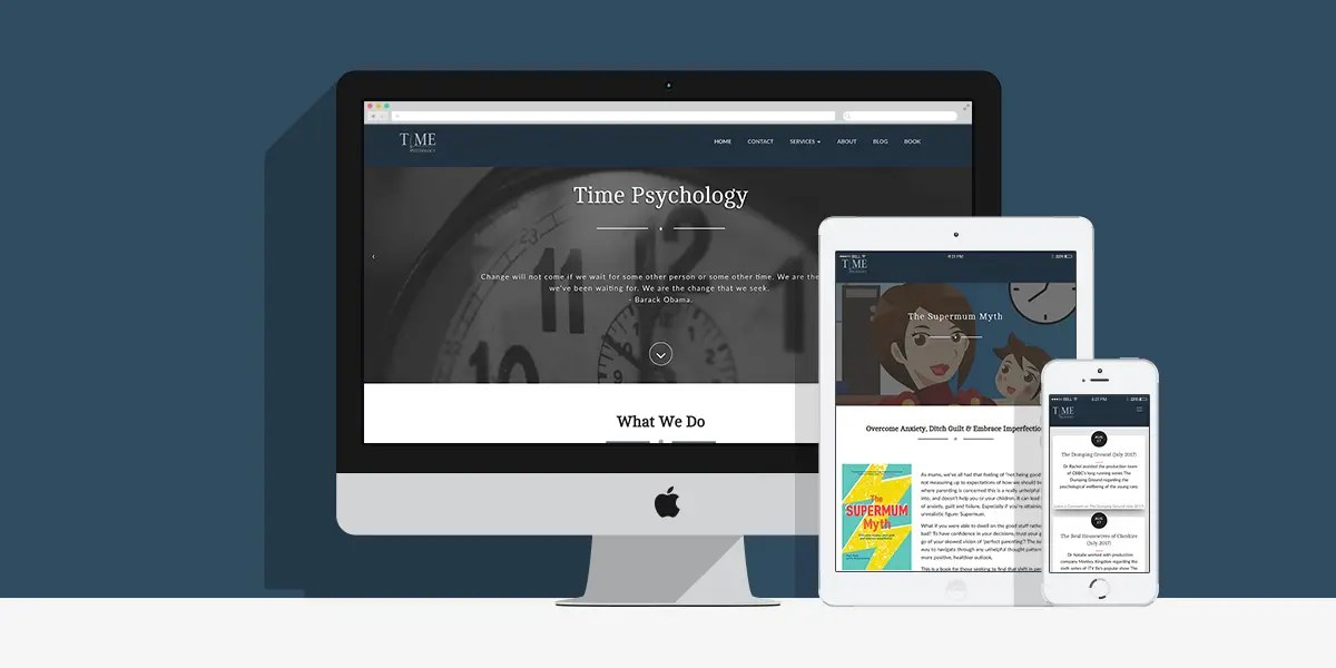 Time Psychology Website: By Factory, Digital Agency In Manchester
