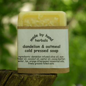 dandelion & oatmeal sopa | cold pressed soap | traditional | herbal