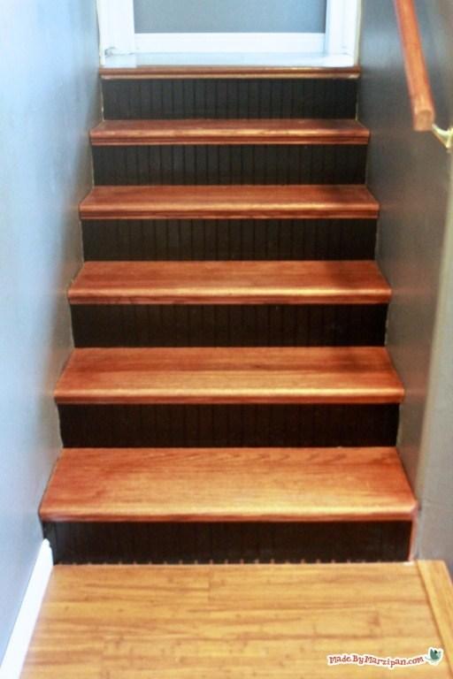 Installing Stair Tread Caps Made By Marzipan   Oak Stair Tread Caps   Pergo Outlast   Scraped Oak   Riser Kit   Wood   Sp125 4F048C