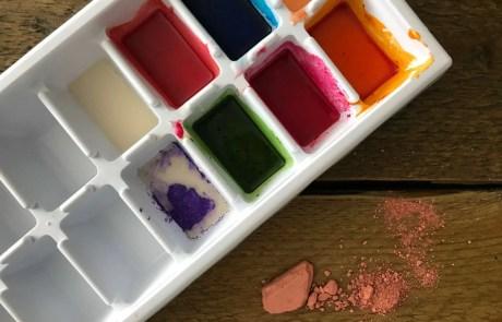 diy watercolour paint pigments