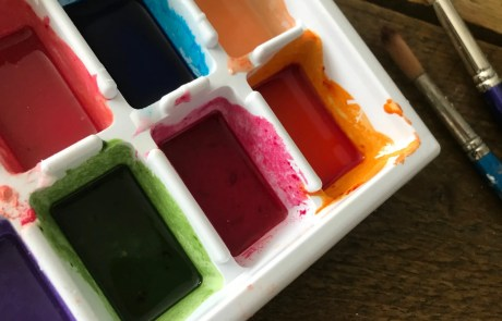 diy watercolour paint close up
