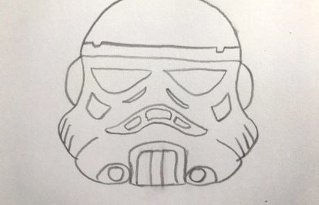 star wars easy stormtrooper sketch