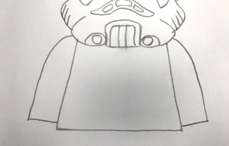 stormtrooper sketch for kids