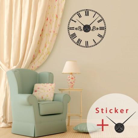 Sticker Horloge Avec Chiffres Romains Pas Cher Stickers
