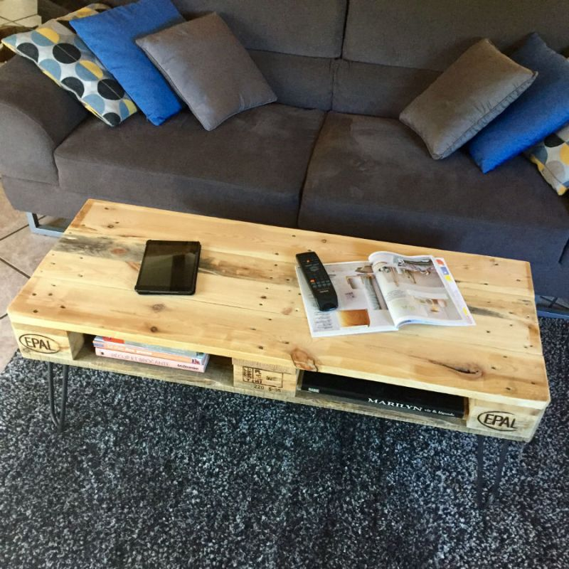 table basse palette europe naturelle