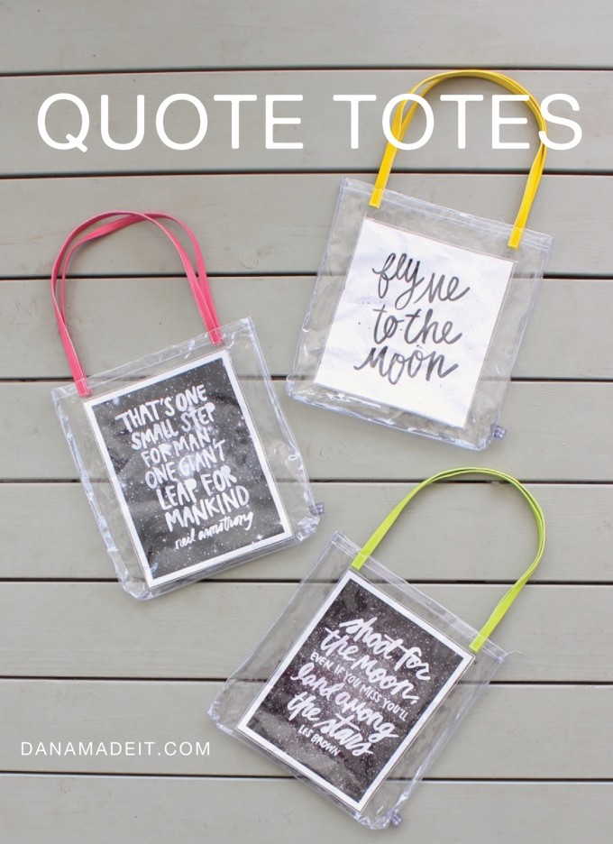 How to make Quote Totes on MADE