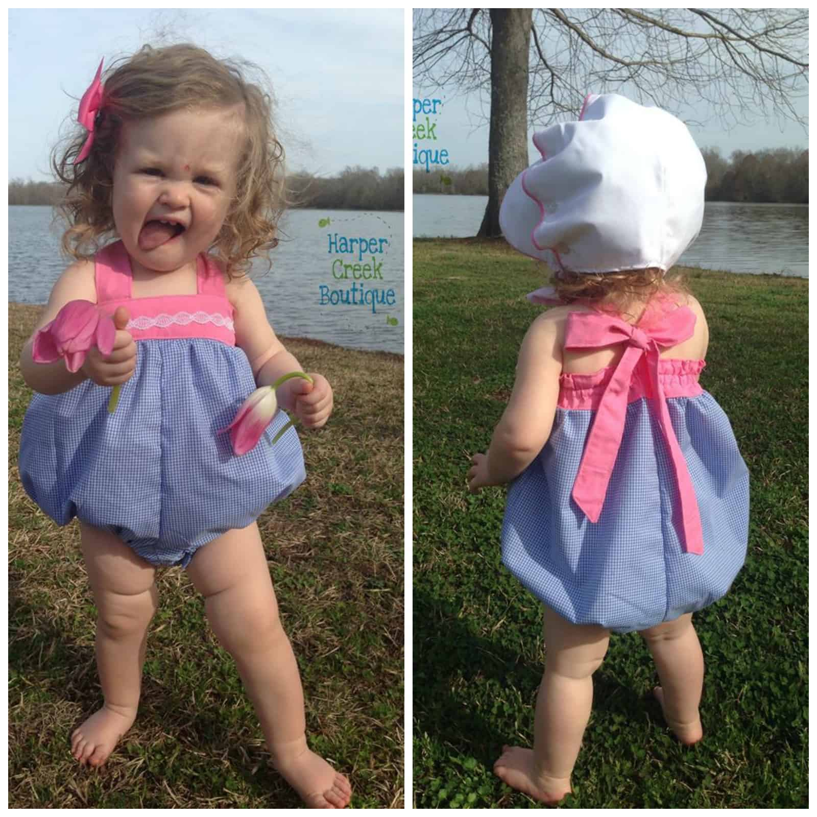 baby molly bubble romper dress top and bloomer made for mermaids
