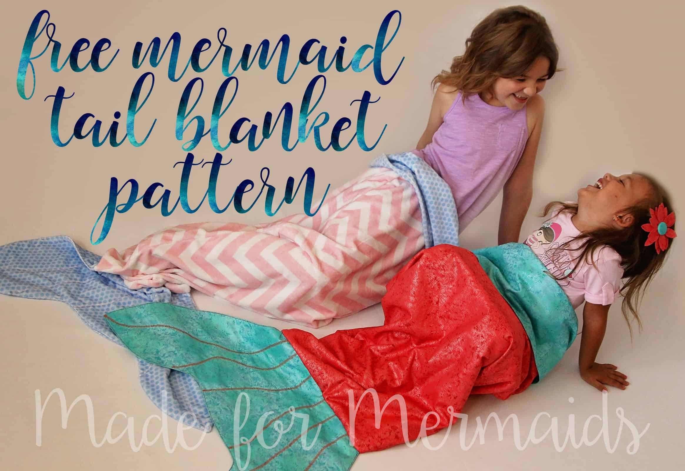 free mermaid tail blanket for children and dolly made for mermaids