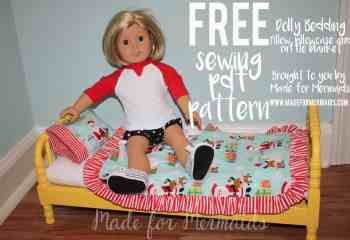 FREE Dolly bedding- pillow, pillowcase and ruffle blanket