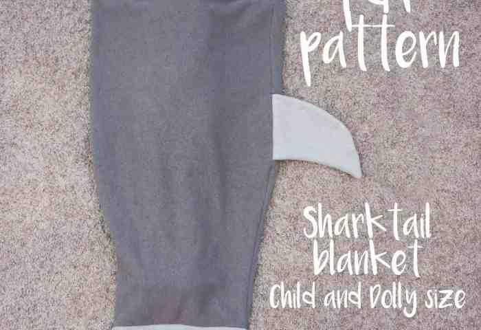 Shark Tail Blanket for Kids & Dolly