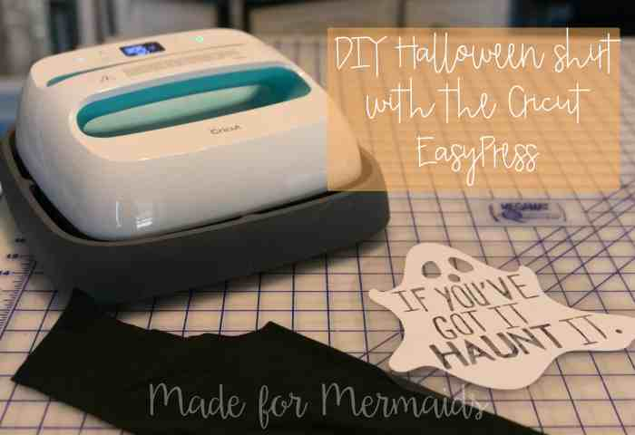 DIY Halloween Shirt with the Cricut EasyPress {plus review}