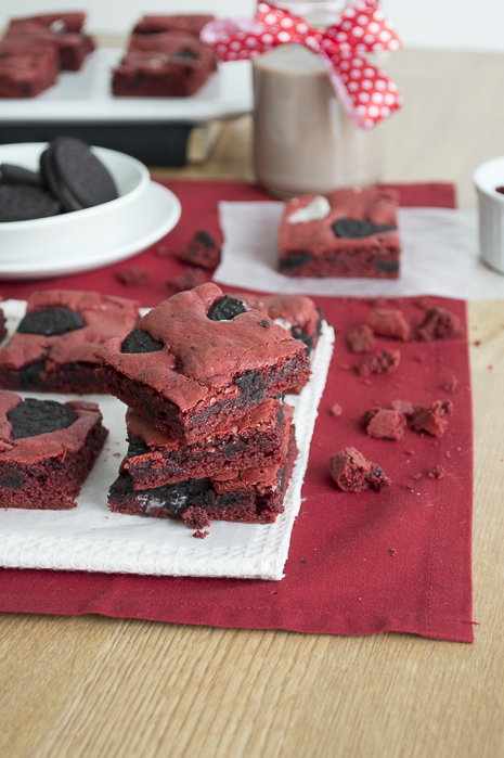 The First Year Blog red velvet oreo brownies