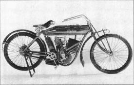 An Indian motor-cycle made by Hendee Manufacturing Co. of Springfield, Massachusetts, circa 1911. (From the collections of Henry Ford Museum & Greenfield Village, Dearborn, Michigan.)