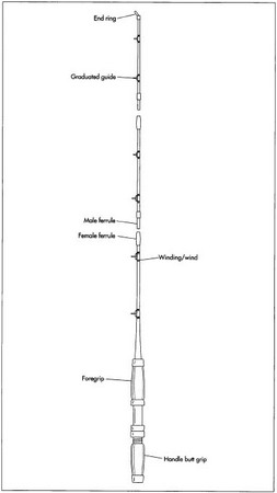 A typical fishing rod.
