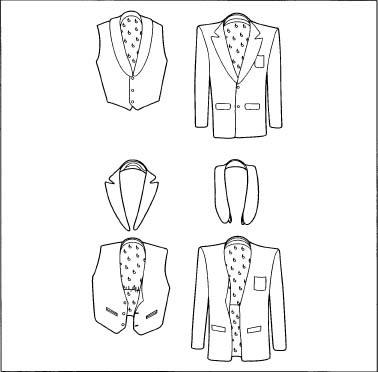 The fabrication of a tuxedo.