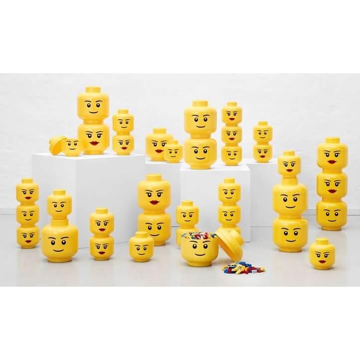 Autre figurine ou réplique. Lego Decoration Tete De Rangement Empilable S Garcon Jaune Made In Bebe