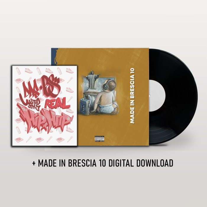 Made in Brescia 10 Vinile + Libro Das Bs whit the real Hip Hop + Digital Download