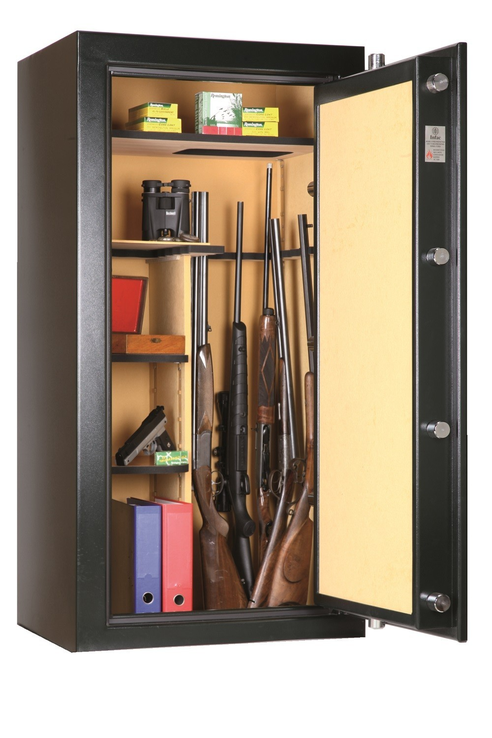 armoire forte anti feu infac big safe vert 12 24 armes armoires fortes pour armes longues made in chasse