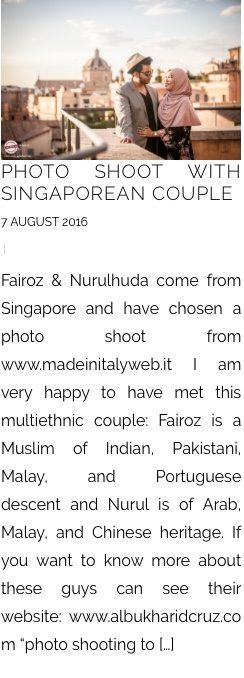 PHOTO SHOOT WITH SINGAPOREAN COUPLE 7 AUGUST 2016 |  Fairoz