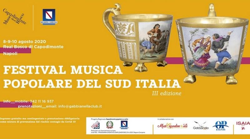 Festival della Musica Popolare del Sud Italia, al Real Bosco di Capodimonte la terza edizione