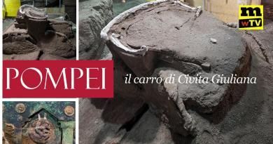 VIDEO – Pompei, le bellissime immagini del carro ritrovato nella villa di Civita Giuliana