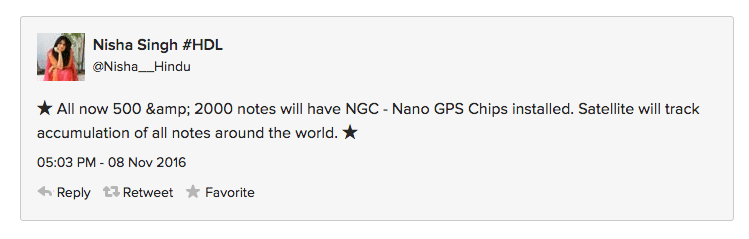 And who all can forget the 2000 rupee gps hoax?