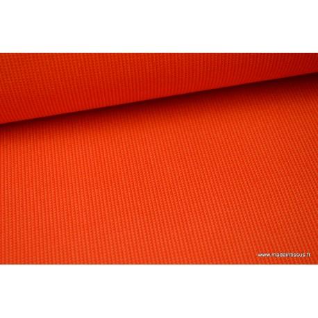tissu d exterieur en polypro teint dans la masse orange pour coussins