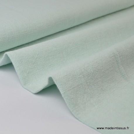 tissu lin lave menthe souple et leger pour confection habillement