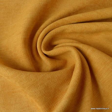 tissu isolant thermique et occultant coloris moutarde