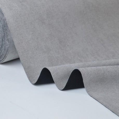 tissu isolant thermique et occultant coloris gris envers noir