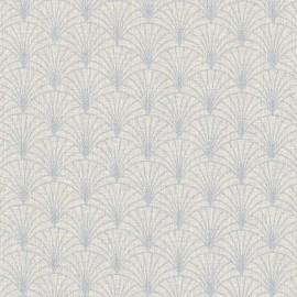 tissu toile aspect lin motifs eventails lurex argent fond naturel oeko tex tissu toile aspect lin motifs eventails lurex argent fond naturel oeko