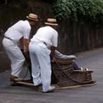 Madeira Korbschlitten Abfahrt