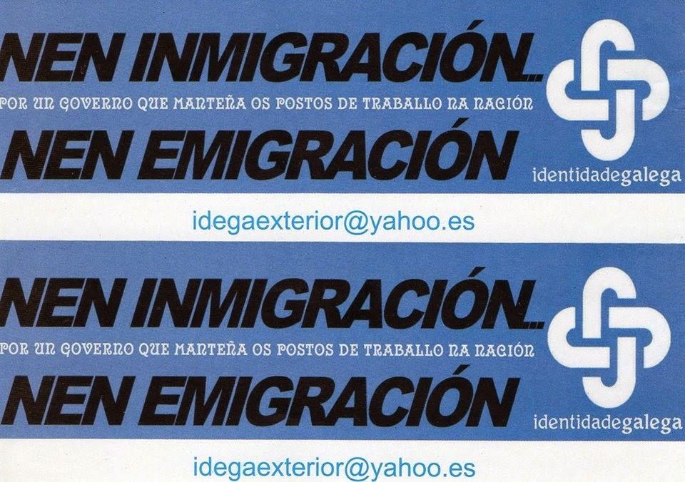 Banners web de IDEGA contra a imigração