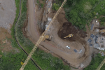 Aerial images illustrate progress of works on the Fajã da Ovelha Expressway - Ponta do Pargo