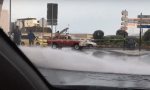 Burst water main at port entrance
