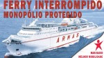 Protest today for the interruption of the ferry.