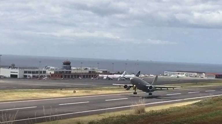 German Air Force Plane Leaves Madeira