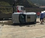 Images of the car that fell in Porto Moniz