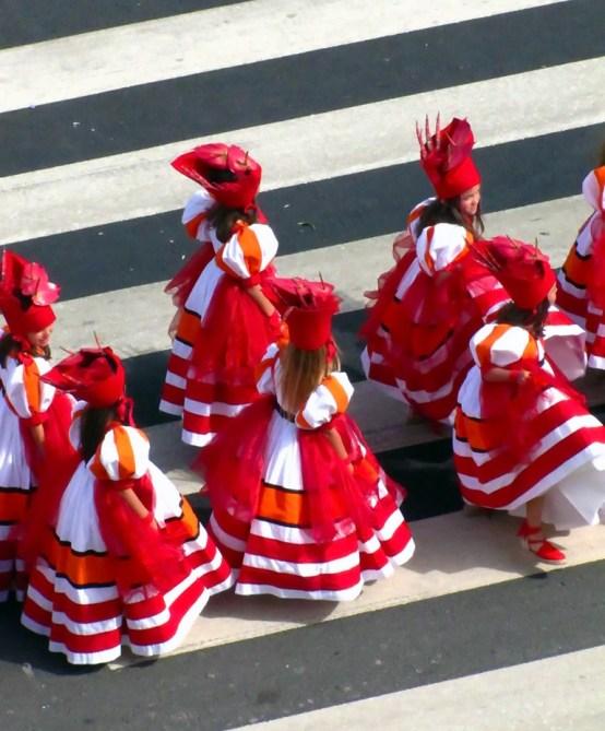 flower festival madeira dancing girls flower dresses