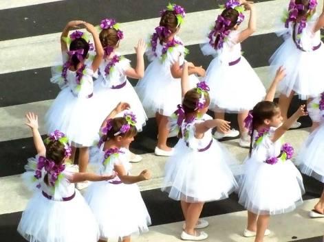 flower festival madeira dancing girls