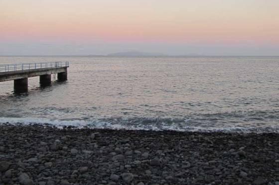 madeira beach rocks sundown