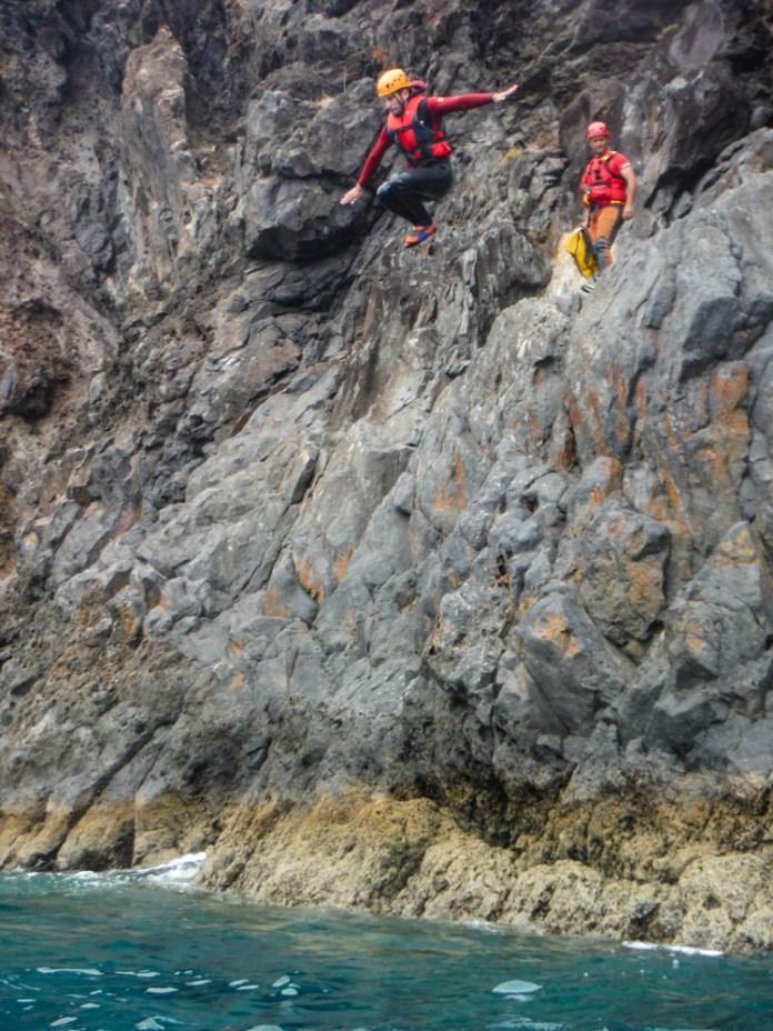 coasteering adventure Madeira cliff jump