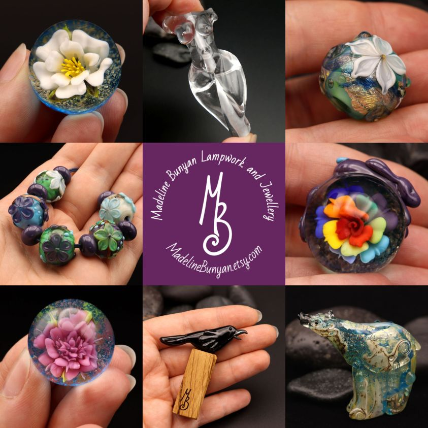 Lampwork Glass Beads, Jewellery and Marbles on Etsy