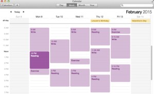 My schedule? I wish. Maybe if I was single, with no kid, and no life.
