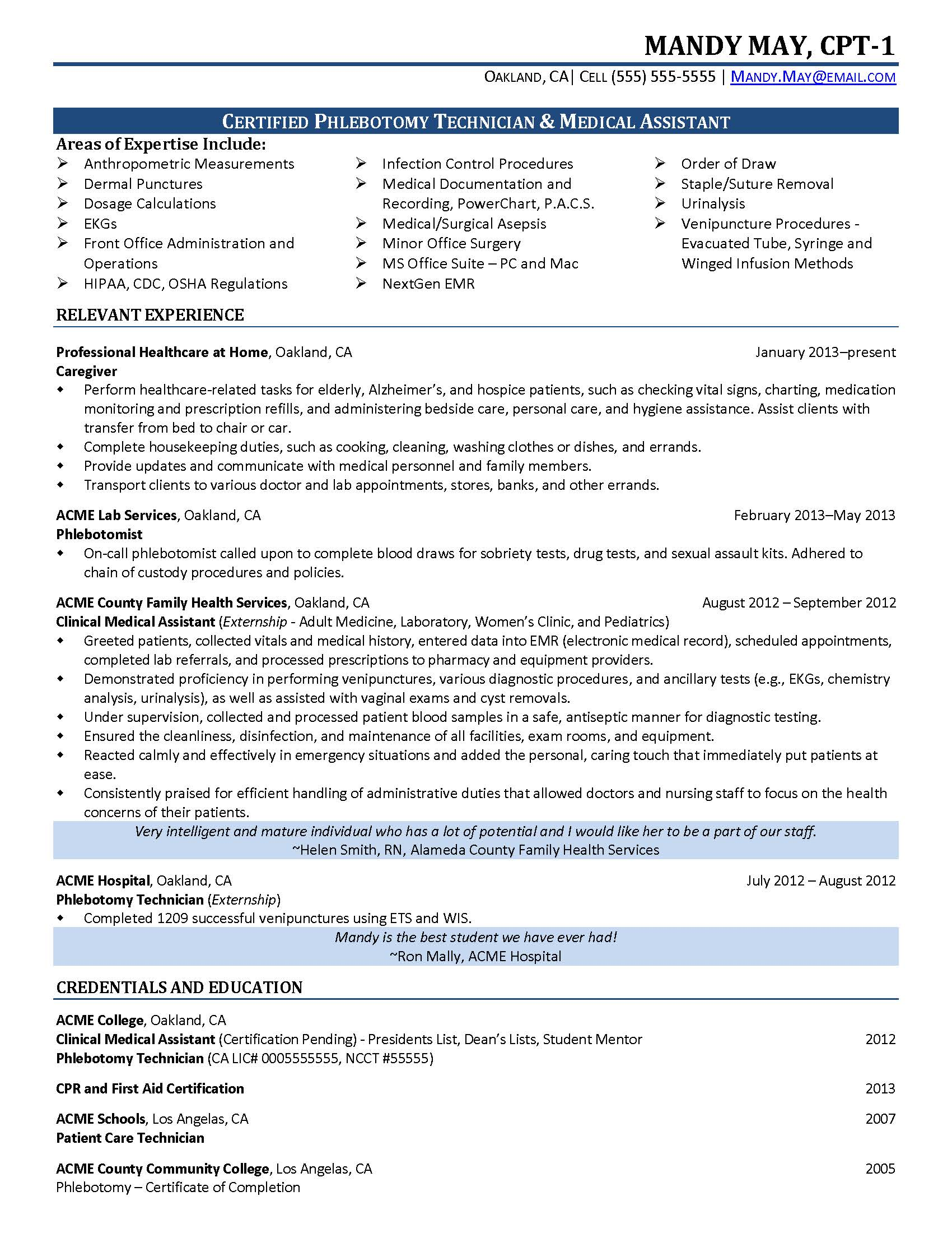 medical assistant resume objective statement sample medical