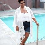 Fashion to Figure, white party, plus size blogger